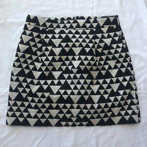 J. Crew Black and White Women's Mini Skirt sz 2